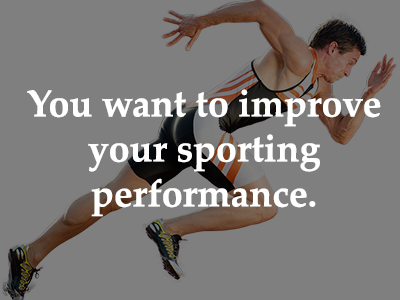 You want to improve your sporting performance